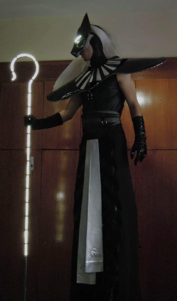 Anubis and Sekhmet costumes Bastet mask & Egyptian deities/ stilt walker costumes (work in progress photos ...