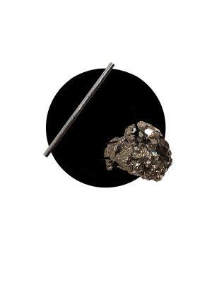 Iva Sokovic Levitating Pyrite Cluster